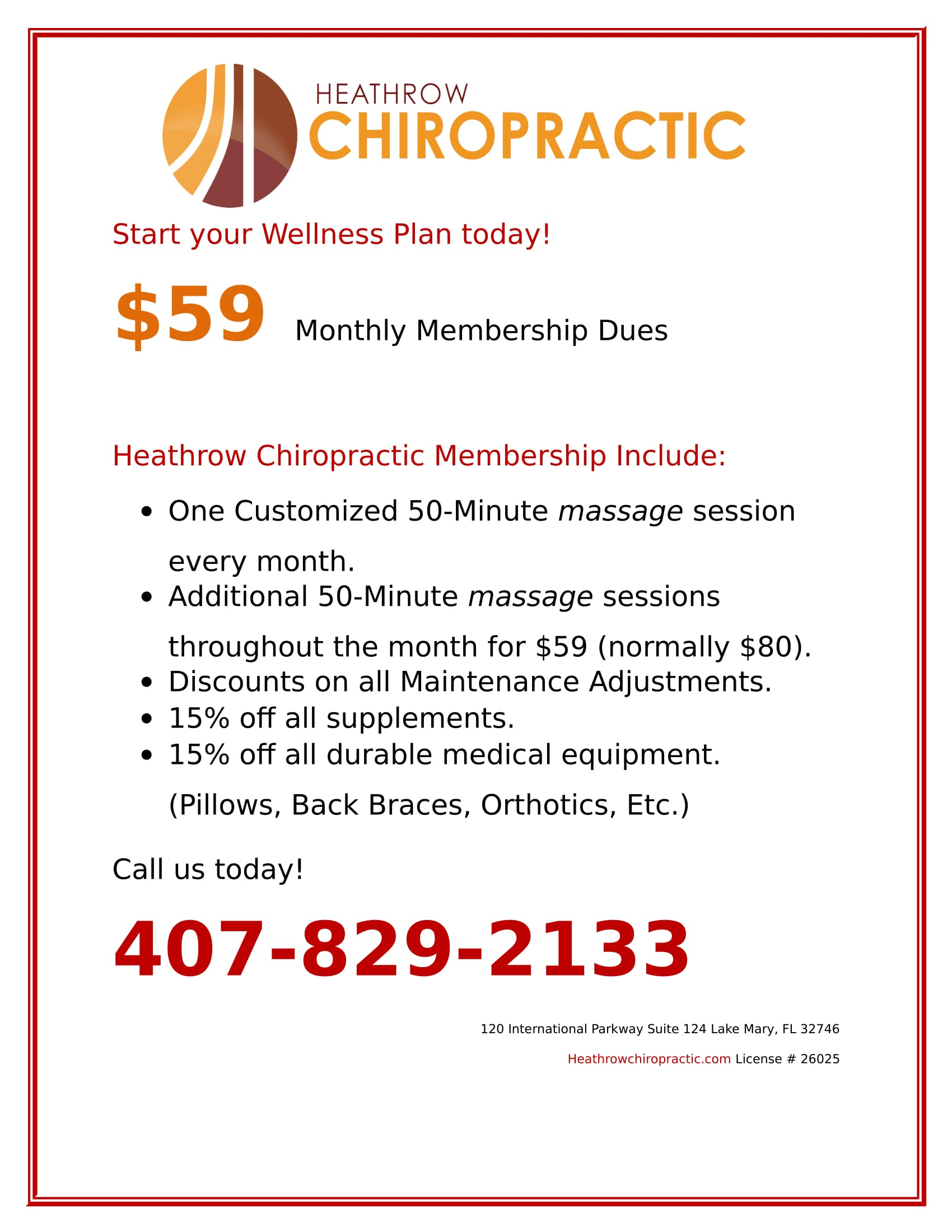 Massage Membership Flyer 1